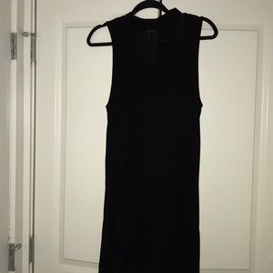 Top shop black choker neck flowy mini dress